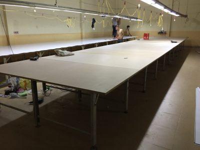 Thay mặt bàn cắt vải tại Bình Dương
