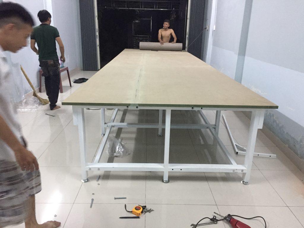 mặt bàn cắt vải MDF chống ẩm