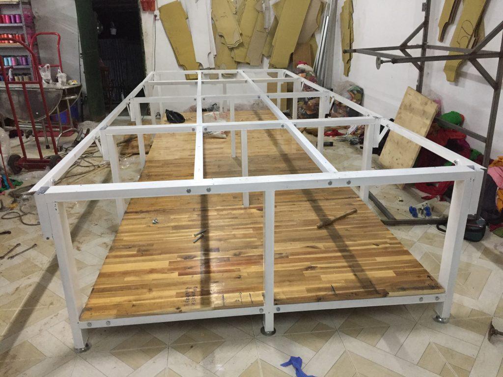 mặt bàn cắt vải gỗ ghép